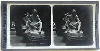 Museo Del Luxemburgo Estatua Diogenes París Fotografía Estéreo Vintage Analógica
