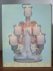 Seasonal Elegance Five Cup Angel Votive Holder