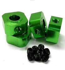 L11494GR 1/5 scala 17mm x 9.5 mm Drive Quadrato WHEEL HUB IN LEGA DI ALLUMINIO VERDE x4