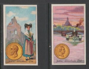 CIGARETTE CARDS J Sinclair 1914 Worlds Coinage - (2 cards) 39,40