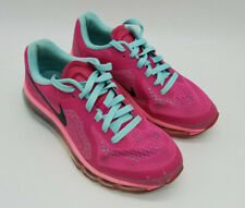 Nike Air Max 2014 Gs Athletic Shoes Vivid Pink Black Blue 631331-600 Size 5Y
