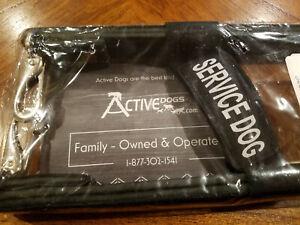 "Activedogs Leather Reflective Snap-On Service Dog 12"" Bridge Handle - FREE SHIP"