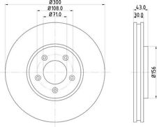 Disc Brake Rotor-Base Front Hella-PAGID 355122132