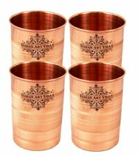 Copper Glass Tumbler, 300 ml (Brown) - Set of 4 Pieces