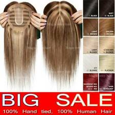 US Popular Clip in REMY Human Hair Topper Piece Women Hairpiece Top Topper Free