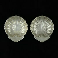 Seashell Condiment Bowls Set of 2 Sterling Silver Holloware Shell Nautical