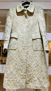 Cream Brocade Coat By Zara  Limited Collection Size M