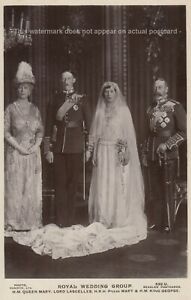 Royal Wedding Group, Queen Mary, Lord Lascelles, Princess Mary, King George RP