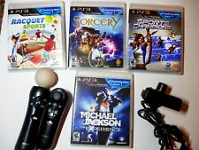 Sony PlayStation PS3 Move Motion Controller,Eye Camera,4 Games BUNDLE plus++