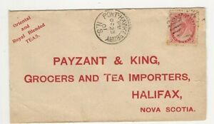 SELF ADDRESSED PAYZANT & KING, HALIFAX, NOVA SCOTIA REPLY COVER, 1901 - TEAS