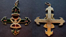 Medalla antigua esmaltada CALIZ DE VALENCIA REAL HERMANDAD medal religious
