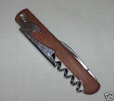Wine Bottle Opener Multi-function Corkscrew, Knife with Wood Handle New