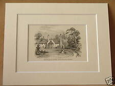 BERKHAMPSTEAD RECTORY COWPER MOUNTED ENGRAVING c1890