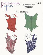 Schnittmuster RH 833 Paper Pattern 1740s-90s Stays Korsetts