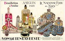 POSTCARD AUSTRIAN PERFUME COSMETIC ADVERTISING ART DECO