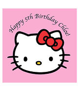 Hello Kitty Personalised Square x1 Edible Cake Topper Icing Sheet  Square 20cm