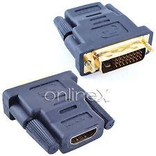 Adaptador HDMI Hembra a DVI Macho de 24+1 Pines a0781