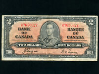Canada:P-59c,2 Dollars,1937 * King George VI * Coyne-Towers *