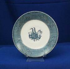 Royal China Currier & Ives Blue Low Water in the Mississippi White Saucer bf1973