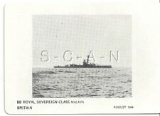 WWII Double Sided Recognition Photo Card- Navy Battleship BB Royal Sovereign- 44
