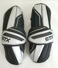 STX Shadow Large Sports Lacrosse Arm Guards Pads Black Silver Protective Gear