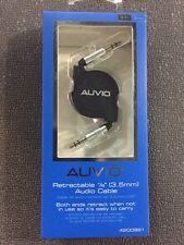"Auvio RadioShack Aux 1/8"" Mini Stereo Retractable Audio Cable 3 feet - Retail$17"