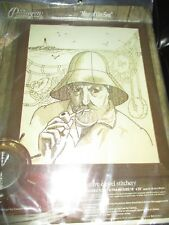 Paragon Vintage Man Of The Sea Fisherman Picture Embroidery Kit - 1970's