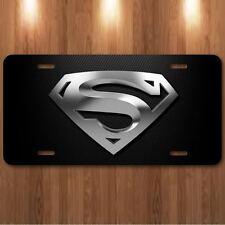 Superman Man Of Steel Aluminum Metal License Plate Tag New Cool Metropolis