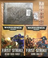 Warhammer 40k First Strike Intro and Rules/ Playing Mat/ Ruler/ Dice (No Models)