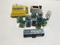 Lot of General Electric and Sylvania FlashCubes and Flashbar