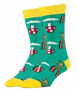 OOOH YEAH! Men's Novelty Crew Socks, MD6020C - Happy Shroom