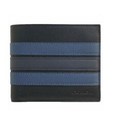 NWT COACH 3 in 1 Wallet Varsity Stripe Card Case Black Denim Midnight F24649