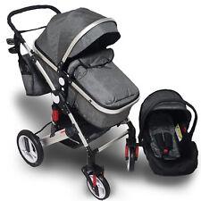 Trally® 3in1 Kinderwagen mit Autositz Kombi-Kinderwagen Babywanne Buggy KW400