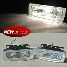 "Fit Trac 5 x 1.75"" Square Bumper Driving Clear Fog Light Lamp Switch & Harness"