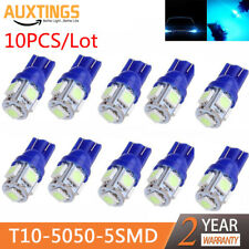 New 10Pcs/lot T10 5050 5SMD LED Light Car Side Wedge Tail Light Lamp Blue Bulbs