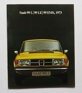 1973 Saab 99 LE EMS Brochure Vintage Original