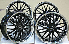 "19"" CRUIZE 190 ALLOY WHEELS BLACK & POLISHED DEEP DISH STAGGERED 19 INCH ALLOYS"