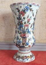 Rouen grand vase décor corne abondance FFC