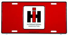 Ih International Harvester Red License Plate Wall Sign Made in the Usa