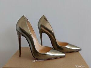 Christian Louboutin So Kate 120mm Stiletto Antispecchio Light Gold Size 36