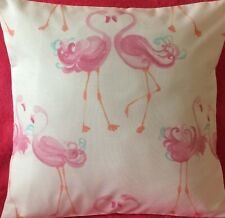 Pink Pretty Flamingo Handmade Cushion Cover matches Laura Ashley Bedding 16x16""