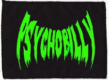 PSYCHOBILLY UV SLIME SICK GREEN BLACK PATCH VAMPIRE BAT HORROR PUNK ROCKER