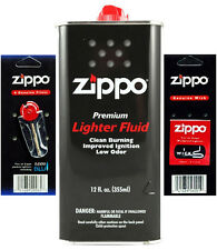 Zippo 12oz Fuel Fluid 1 Flint & 1 Wick Value pack Combo