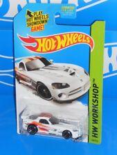 Hot Wheels 2015 Workshop Drift Race #236 Dodge Viper SRT10 ACR White w/ MC5s