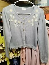 axes femme cardigan lace embroidered pearl lolita otome kawaii