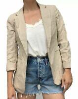 RACHEL ZOE Women's Sz SMALL Blazer Lined Jacket / Linen Cotton NEW