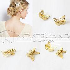 1x Haarnadeln SCHMETTERLING Hochzeit Butterfly Tiara Haarschmuck Braut Goldene