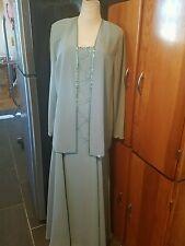 Cameron Black by Mon Cheri size 14 MOB sleeveless floor length green dress