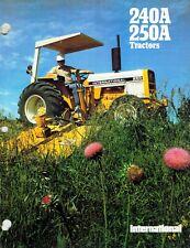International Vintage 240A 250A Wheel Tractors Specifications Brochure 1978