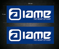 IAME Stickers - Decals 2 x 200mm x 74mm - Printed & Laminated - Karting